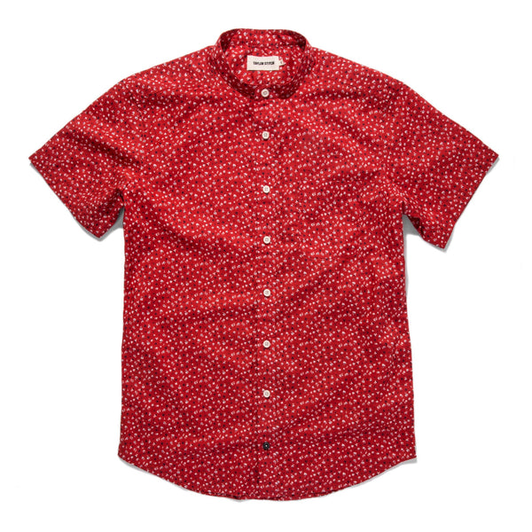 Taylor Stitch - The Short Sleeve Bandit in Red Mini Floral