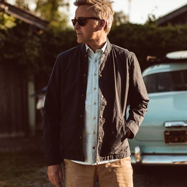 Taylor Stitch - The Bomber Jacket - Navy Dry Wax