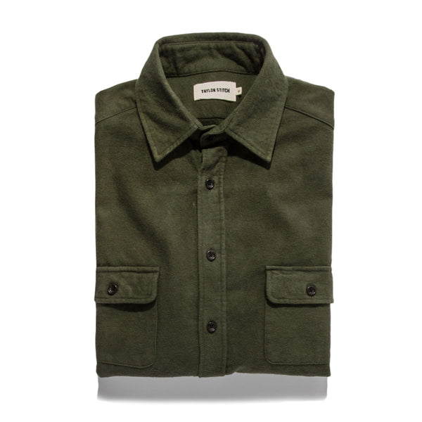 Taylor Stitch - Yosemite Shirt <br> Hunter Green