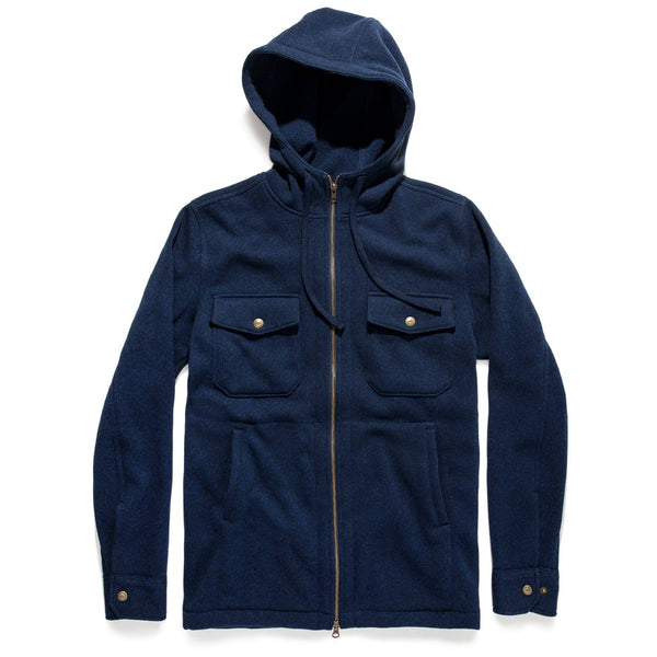 Taylor Stitch - The Big Sur Hoodie in Heather Navy