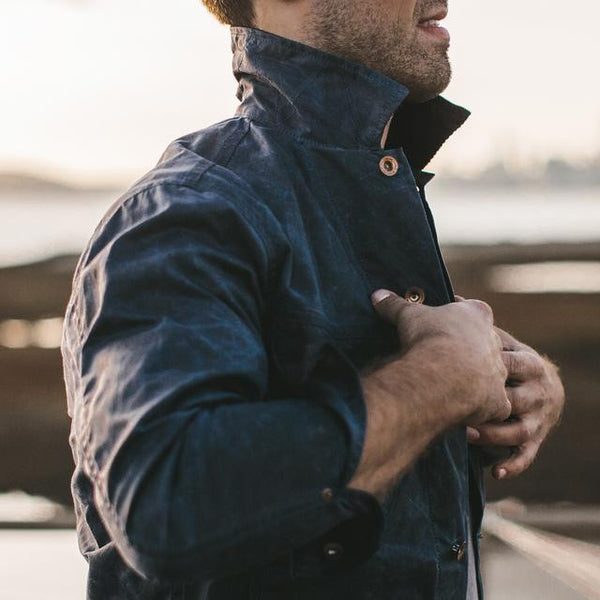 Taylor Stitch - Long Haul Jacket- Navy Waxed Canvas