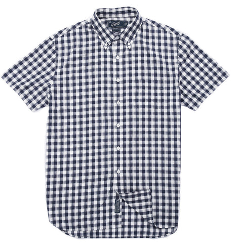 Grayers - Grange Shadow Gingham Short Sleeve Shirt Navy