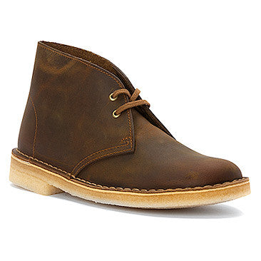 Clarks - Desert Boot <br>Brown Beeswax Leather