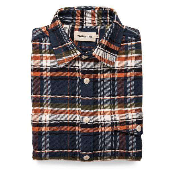 Taylor Stitch - The Crater Shirt <br>in Navy Plaid