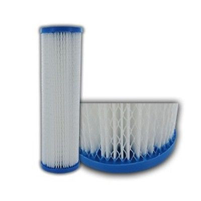 "40 Polyester Pleated water filter cartridges 2.5"" x 9.875""   1 Micron"