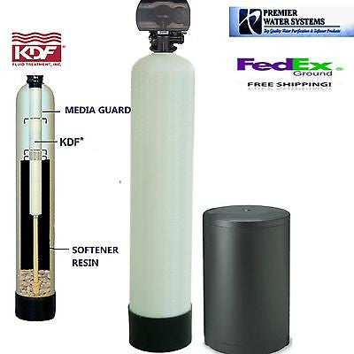 KDF85 48000 grain water softner with controlling the Algae, Fungi, bacteria, hydrogen sulfide and iron removal softner system