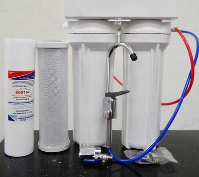 Under Sink Water Filter - Multi Stage drinking water filtration with KDF55/GAC under sink sediment water filter systems.
