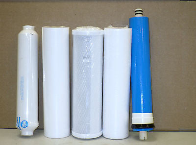 REVERSE OSMOSIS WATER FILTERS MEMBRANE FOR 5 STAGES 100GPD- Premier Water System