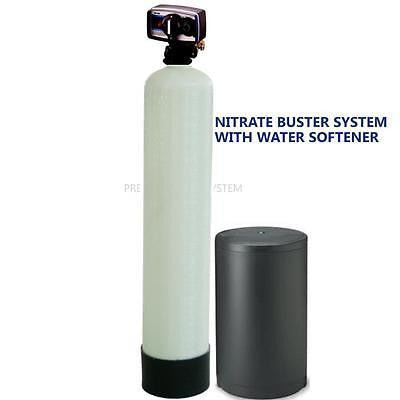 PREMIER WATER SOFTENER NITRATE REDUCTION SYSTEM 1.5 ft3 FLECK 5600 METER VALVE