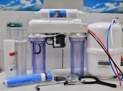 Premier Reverse Osmosis Drinking Water Filter System Permeate Pump 5 Stage 100G