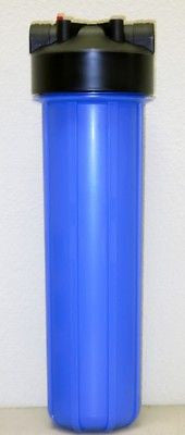 "Big Blue water filter - 4.5 X 20"" Housing/Canister 1"" NPT w/PR with Sediment filter for house as well as commercial usage."