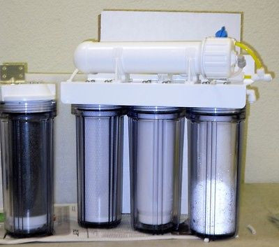 Reverse Osmosis System - Refillable Cartridge Aquarium Reef with 1-5 Sediment white membrane housing  1-GAC RO/DI system.