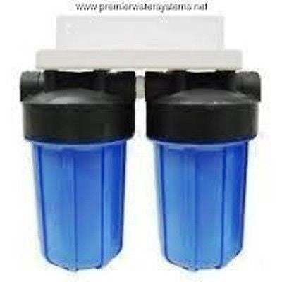 "Big Blue Water Filters - Sediments GAC/KDF55 filter system. W/Bracket 4.5 x 10"" Water filter cartridge with high flow design."