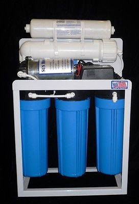Light Commercial Reverse Osmosis Water Filter System 300 GPD 6 gallon tank USA