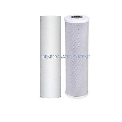 Premier Water filter Carbon Block 2.75 x 9.75 and Sediment Filter 5 micron