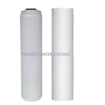 2 BIG BLUE SEDIMENT/GAC WATER FILTERS CARTRIDGE 4.5X20""
