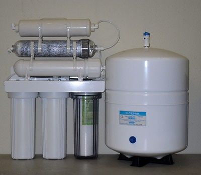 Deionized Water System - 150 GDP Dual Outlet 6 Gallon Tanks 5-6 stage reverse osmosis RO/DI drinking water filter systems.