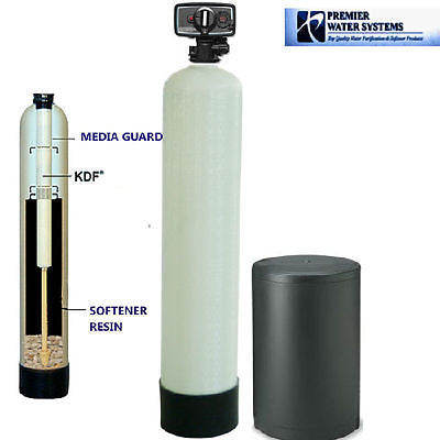 KDF85 32000 grain water softner with iron sulfer and remove hardness. Manganese, Chemicals, Bacteria control softner system.