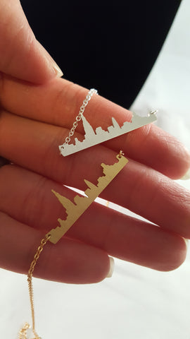 new york skyline necklace modish swag