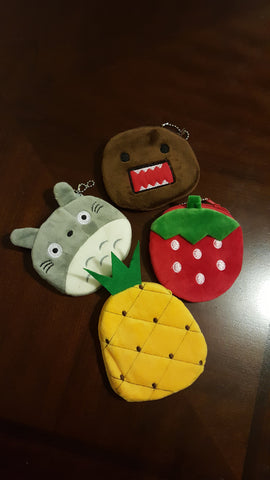 coin purse pineapple strawberry domo totoro modish swag