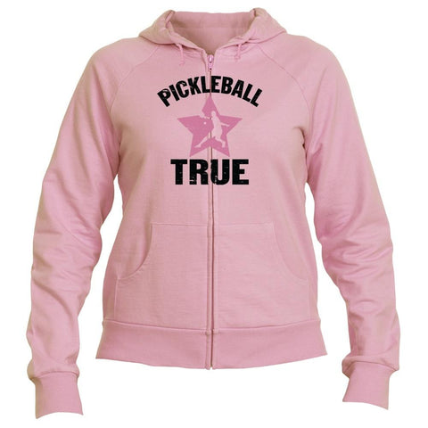 "Pickleball True ""RockStar"" Full Zip Fleece Hooded Sweatshirt - Women's [product _type] Pickleball True - Ultra Pickleball - The Pickleball Paddle MegaStore"