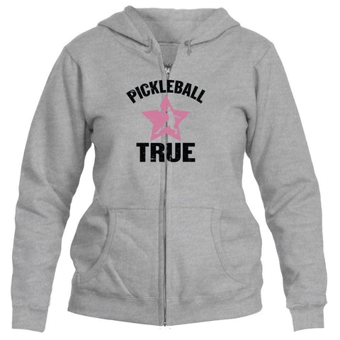 "Pickleball True ""RockStar"" Full Zip 50/50 Hooded Sweatshirt - Women's [product _type] Pickleball True - Ultra Pickleball - The Pickleball Paddle MegaStore"