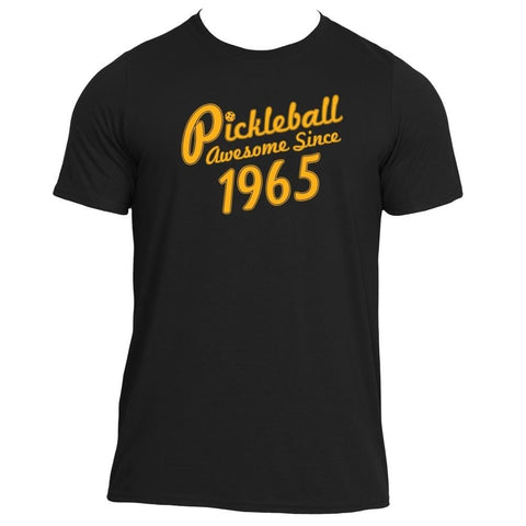 "Pickleball ""Awesome Since 1965"" Performance Pickleball Shirt - Men's [product _type] Pickleball True - Ultra Pickleball - The Pickleball Paddle MegaStore"