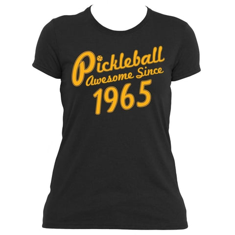 "Pickleball True ""Awesome Since 1965"" Performance Pickleball Shirt - Women's [product _type] Pickleball True - Ultra Pickleball - The Pickleball Paddle MegaStore"