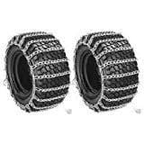2 Link TIRE CHAINS 18x6.50-8 18x650-8 18x650x8 18-6.5-8 Tractor Rider Snowblower ;supply_by_theropshop
