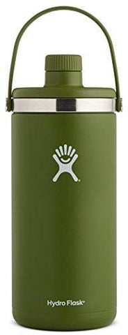 Hydro Flask 128 oz Oasis Water Jug | Stainless Steel & Vacuum Insulated | Leak Proof Cap | Olive