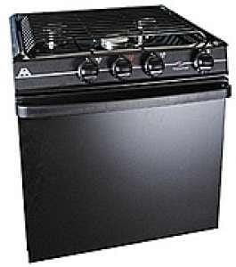 "Atwood Mobile Products 52232 Wedgewood Black 21"" Ups Piezo Oven Range 3 Burner"