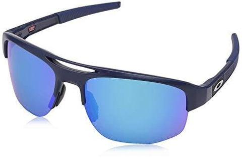 Oakley Men's Mercenary Polarized Rectangular Sunglasses, Matte Navy, 70 mm