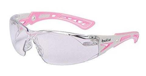 Bolle Safety RUSH+ Small 40254 Clear PC ASAF - Platinum Pink & White