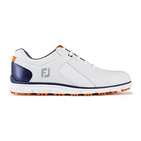 FootJoy Men's Pro/SL-Previous Season Style Golf Shoes White 11.5 W Navy/Orange, US [product _type] FootJoy - Ultra Pickleball - The Pickleball Paddle MegaStore