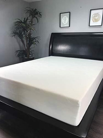 "American Mattress Company 8"" Graphite Infused Memory Foam-Sleeps Cooler-100% Made in The USA-Medium Firm (RV Queen)"