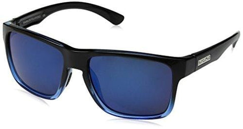 Suncloud Rambler Polarized Sunglasses, Black Blue, Blue Mirror