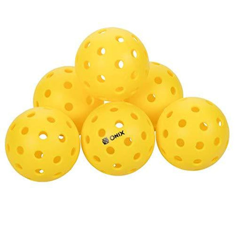ONIX Pure 2 Outdoor 6-Pack Pickleballs
