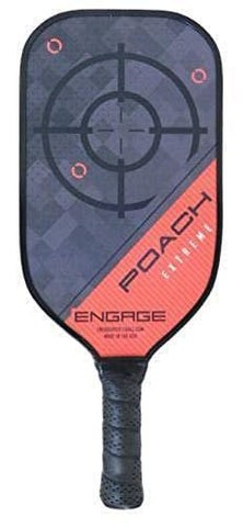 Engage Poach Extreme Pickleball Paddle (Red, 7.5-7.8 oz)