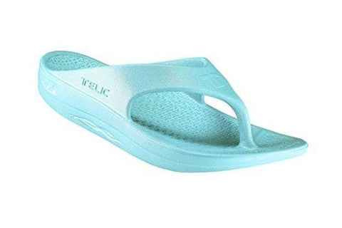 Telic Men's Fashion Flip Flop Sandal (Made in The USA) (8 D(M) US, Aqua)