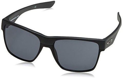 Oakley Men's Two Face XL Square Sunglasses, Steel w/Grey, 59 mm