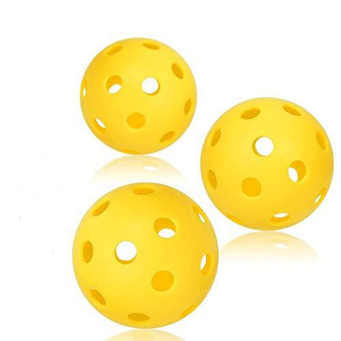 niupipo Pickleball Balls, Professional Patented 26 Hole Design Pickleball Balls Set of 3 Outdoor & Indoor Pickleballs, High-Vis Optic Yellow Pickleball Balls