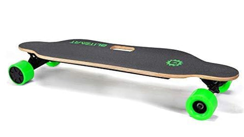 "BLITZART Tornado Electric Skateobard Longboard E-Skateboard Motorized Electronic Hub-Motor, 3.5"" Wheels, Green"