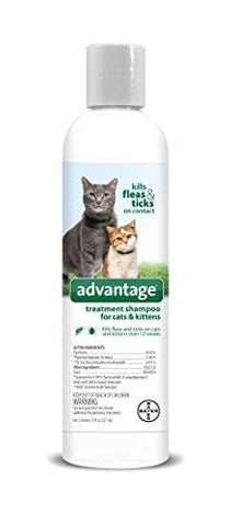 Advantage Shampoo Flea and Tick Treatment for Cats and Kittens 8 oz