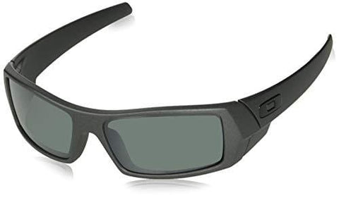 Oakley Men's Gascan Polarized Rectangular Sunglasses, Steel /Prizm Black, 60mm