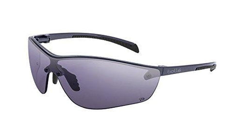 Bolle Safety Silium+ Safety Glasses, Dark Gunmetal Frame, Grey Lenses