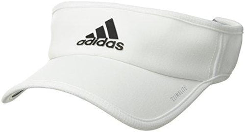 adidas Men's Superlite Performance Visor, White/Black, One Size [product _type] adidas - Ultra Pickleball - The Pickleball Paddle MegaStore