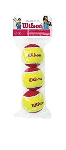 Wilson US Open Starter Balls Pack of 3 (Red/Yellow, 75 mm)
