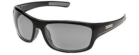 Suncloud Cover Polarized Sunglasses, Black, Gray