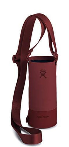 Hydro Flask Tag Along Bottle Sling | Adjustable Length & Waterproof Pocket | Fits 12, 18, 21, and 24 oz Standard Mouth Bottles | Small, Brick