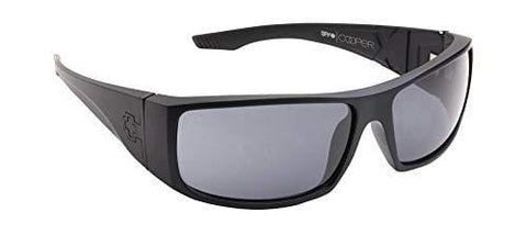 SPY Optic Cooper XL Wrap Sunglasses (MATTE BLACK - GRAY POLAR)